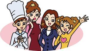 女性の集団